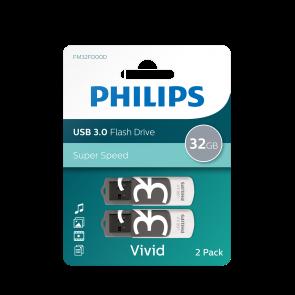 Philips USB flash drive Vivid Edition 32GB, USB3.0, 2-pack